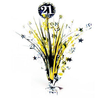 Sparkling Celebration Age 21 Table Centrepiece - 46cm