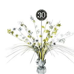 Sparkling Celebration Age 30 Table Centrepiece - 46cm