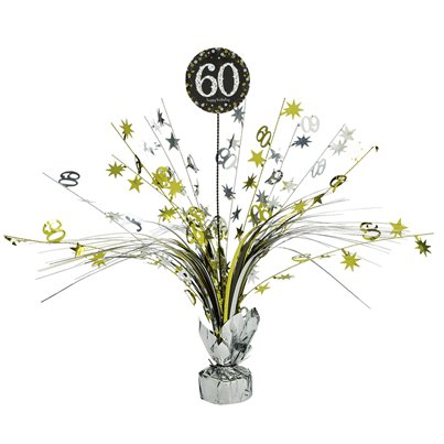 Sparkling Celebration Age 60 Table Centrepiece - 46cm