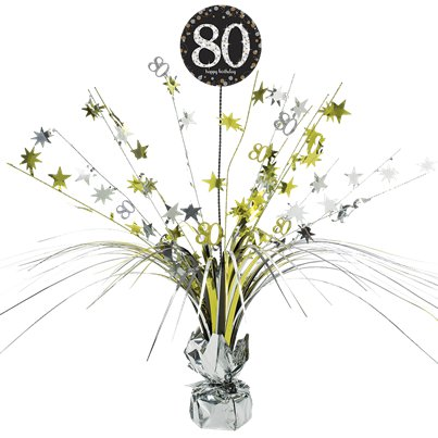 Sparkling Celebration Age 80 Table Centrepiece - 46cm