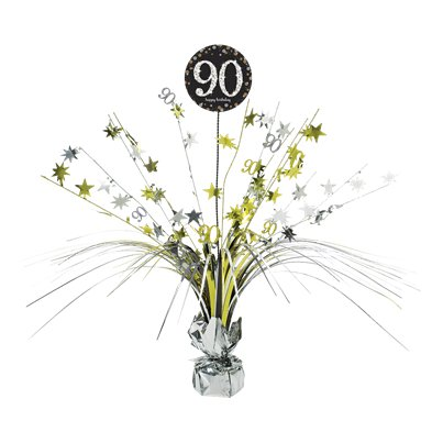 Sparkling Celebration Age 90 Table Centrepiece - 46cm