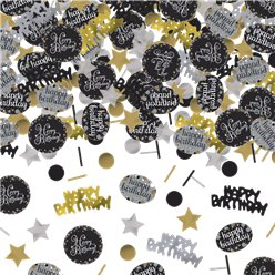 Gold Sparkling Celebration Happy Birthday Confetti