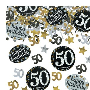 50th Sparkling Celebration Decoration Kit - Deluxe