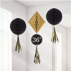Sparkling Celebration Add an Age Honeycomb Decorations