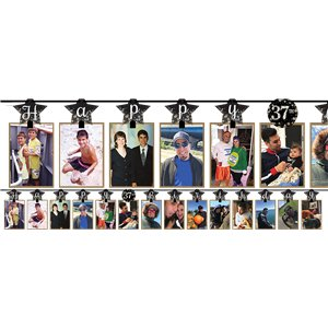 Sparkling Celebration Add an Age Photo Garlands - 3.65m