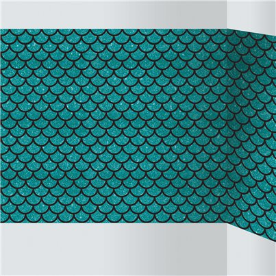 Mermaid Patterned Room Roll 4.8m x 1.2m