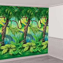 Jungle Trees Room Roll
