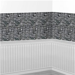 Stone Wall Room Backdrop Scene Setter - 9.1m