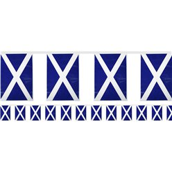 Scottish Flag Plastic Bunting - 7m