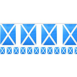 Scottish Flag Fabric Bunting - 6m