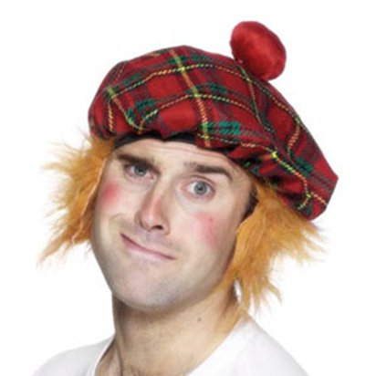 Tam o' Shanter Hat - Tartan Scottish Hat - Men's Fancy Dress Costume Accessories back