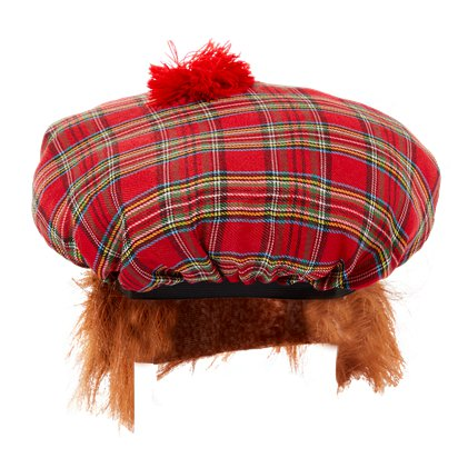 Tam o' Shanter Hat - Tartan Scottish Hat - Men's Fancy Dress Costume Accessories front