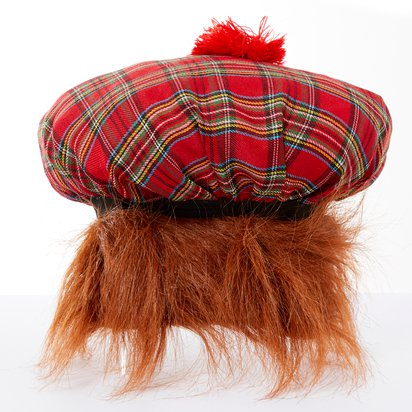 Tam o' Shanter Hat - Tartan Scottish Hat - Men's Fancy Dress Costume Accessories left