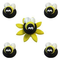 Bumblebee Sugar Toppers - Cake Decorations