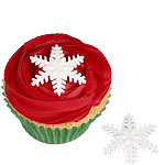 Shimmering Snowflake Sugar Cake Decorations