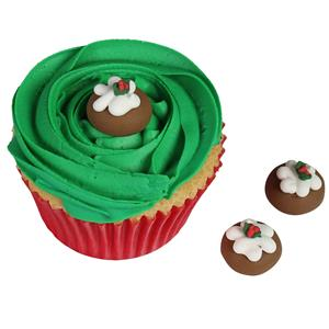 Sugar Cake Decorations For Christmas : Christmas Pudding Sugar Cake Decorations