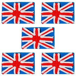 Union Jack Sugar Cake Decorations