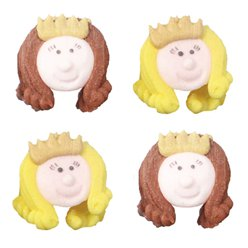 Princess Sugar Toppers - Cake Decorations
