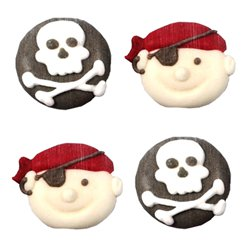 Pirate Sugar Cake Toppers - 12pk