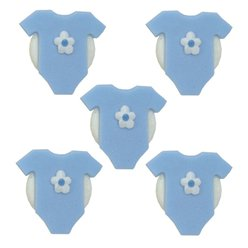 Blue Baby Grow Sugar Toppers