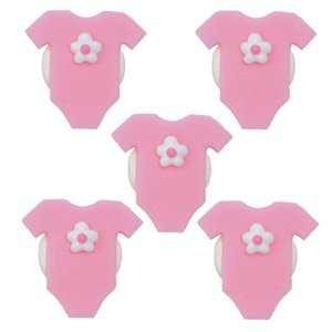 Pink Baby Grow Sugar Toppers