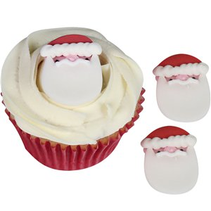 Father Christmas Sugar Cake Toppers - 4cm