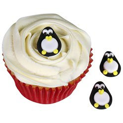 Penguin Sugar Cake Toppers