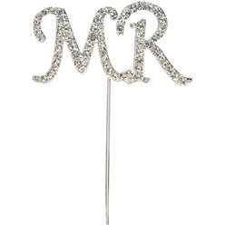 'Mr' Diamante Cake Pick