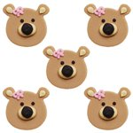 Girl Bears Sugar Toppers - Cake Decorations