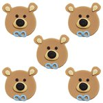 Boy Bears Sugar Toppers - Cake Decorations