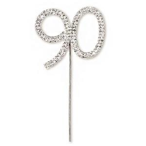 90th Birthday Diamante Cake Pick