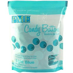 PME Candy Buttons - Light Blue - Vanilla Flavoured