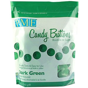 PME Candy Buttons - Dark Green - Vanilla Flavoured