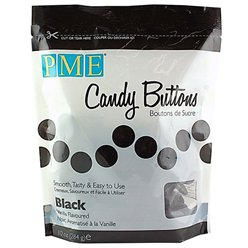 PME Candy Buttons - Black - Vanilla Flavoured
