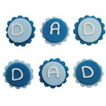 Dad Sugar Toppers - Cake Decorations