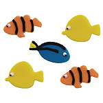 Tropical Fish Sugar Toppers - Cake Decorations
