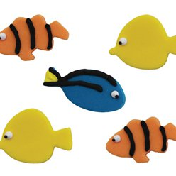 Tropical Fish Sugar Toppers