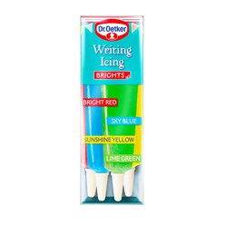 Dr. Oetker Writing Icing Brights - 4pk