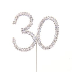 30th Birthday / Anniversary Diamante Cake Pick