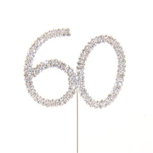 60th Birthday / Anniversary Diamante Cake Pick