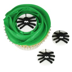 Spider Sugar Cake Toppers - 5pk