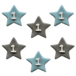 One Little Star Blue Sugar Toppers