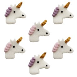 Unicorn Sugar Cake Toppers - 6pk