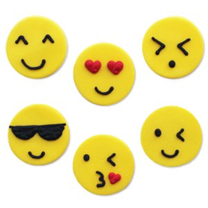 Emojions Sugar Toppers - Cake Decorations