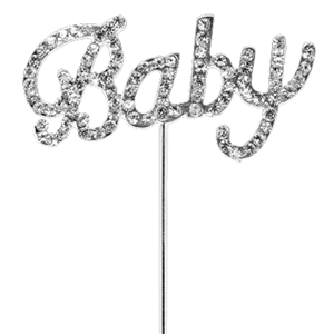 'Baby' Diamante Cake Pick - 5cm