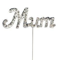 'Mum' Diamante Cake Pick - 5.5cm