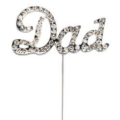 'Dad' Diamante Cake Pick - 4.5cm