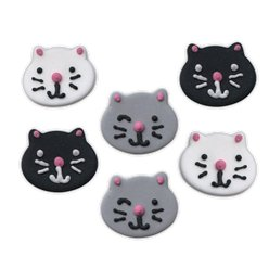 Cat Sugar Cake Toppers - 6pk
