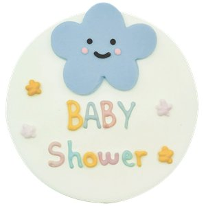 Happy Clouds Sugarcraft Plaque
