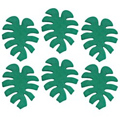 Tropical Leaf Sugar Cake Toppers - 6pk